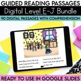 Digital Guided Reading Passages Bundle: Level E-J Distance