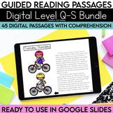Digital Guided Reading Passages Bundle: Level Q-S Distance