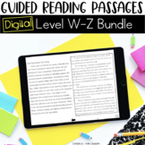 Digital Guided Reading Passages Bundle: Level W-Z Distance