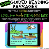 Digital Guided Reading Passages Bundle: Level A-M Spring M