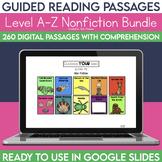 Digital Guided Reading Passages Bundle: Level A-Z Non Fiction
