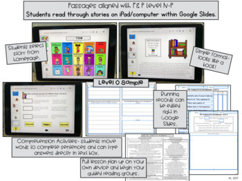 Digital Guided Reading Passages GROWING Bundle: Level N-V {Paperless Classroom}