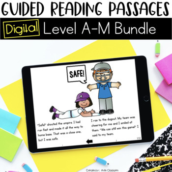 Digital Guided Reading Passages GROWING Bundle: Level A-M {Paperless Classroom}