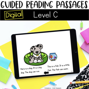 Digital Guided Reading Passages: Level C {For the Paperless Classroom}
