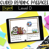 Digital Guided Reading Passages: Level D Distance Learning