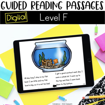 Digital Guided Reading Passages: Level F {For the Paperless Classroom}