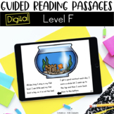 Digital Guided Reading Passages: Level F Distance Learning