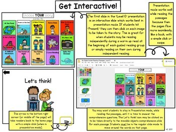 Digital Guided Reading Passages: Level G {For the Paperless Classroom}