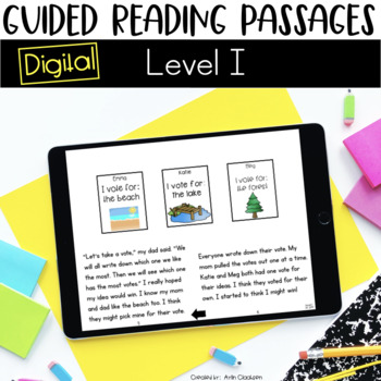 Digital Guided Reading Passages: Level I {For the Paperless Classroom}