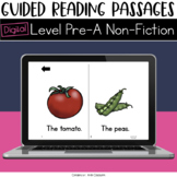 Digital Guided Reading Passages: Level Pre-A (Non Fiction)