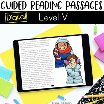 Digital Guided Reading Passages: Level V {For the Paperless Classroom}