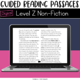Digital Guided Reading Passages: Level Z (Non Fiction) Dis