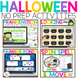 Digital Halloween Activities for Math & Reading & Writing