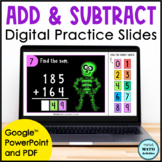 Digital Halloween Addition and Subtraction Practice Sets