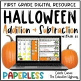 Digital Halloween Addition and Subtraction within 25