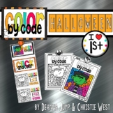 DIGITAL Halloween Color by the Code First Grade