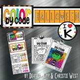 Digital Halloween Color by the Code Kindergarten