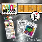Digital Halloween Color by the Code Kindergarten