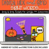 Digital Halloween Hide and Seek Sight Words School or Dist