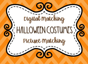 Digital Halloween Image Matching Activity