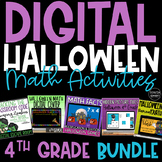 Digital Halloween Math Activities and Centers for 4th Grad