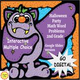Digital Halloween Math Word Problems for 2nd Grade: Google Slides Distance Learn