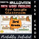 Digital Halloween Math Word Problems for Google Classroom: 3rd Grade