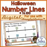 Digital Halloween Number Lines Google Slides™ Numbers to 100