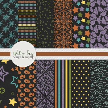 Digital Halloween Papers- Commercial Use Papers for Sellers