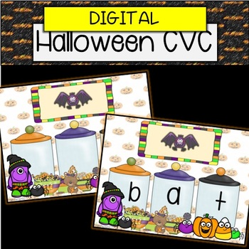Digital Halloween Phonics CVC
