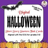 Digital Halloween Short Story Starters Task Cards (Google