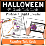 Digital Halloween Task Cards for Rounding using Google Slides
