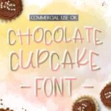 Digital Handwritten Font - Chocolate Cupcake (Cu & Cu4cu OK) - INSTANT DOWNLOAD