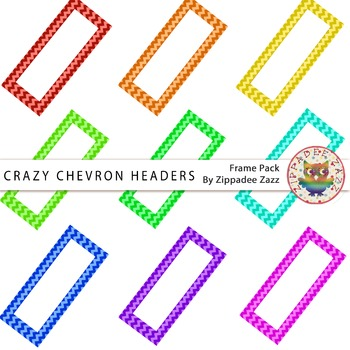 Digital Headers - Crazy Chevron Headers - 9 Headers / Banners