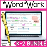 Distance Learning First Grade Word Work and Phonics Bundle