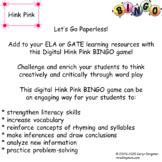 Hink Pink Digital BINGO