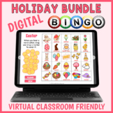 Digital Holiday BINGO Game Bundle - 7 Year Long Virtual Cl