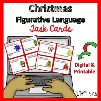 HOLIDAY FIGURATIVE LANGUAGE DIGITAL TASK CARDS