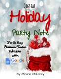 Digital Holiday Party Note for Parents