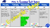 Template for Digital Homework Board (Google Slides)