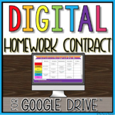 Digital Homework Contract in Google Slides™