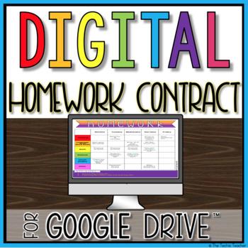 Digital Homework Contract in Google Slides™