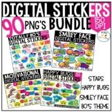 Digital Homework Stickers Bundle | Classroom Behavior Rewards