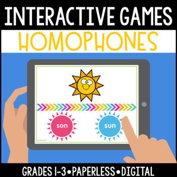 Interactive, Digital and Paperless Homophones Game