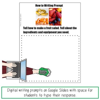 Digital How to Writing Prompts Distance Learning