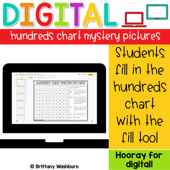 Digital Hundreds Chart Mystery Pictures | Monsters Theme