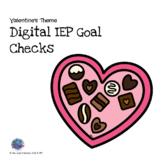 Digital IEP Goals Checks Valentine's Theme