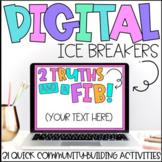 Digital Ice Breakers | Brain Breaks | Distance Learning