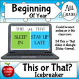 Digital Ice breaker Game for Distance Learning or in the C