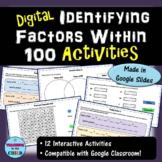 Digital Identifying Factors within 100 Activities | Distan